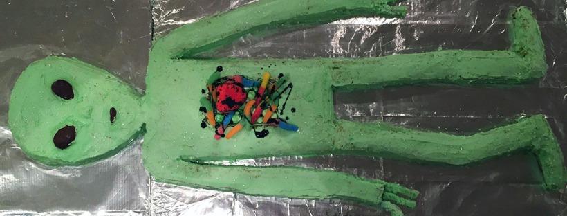 Alien Autopsy Cake Full