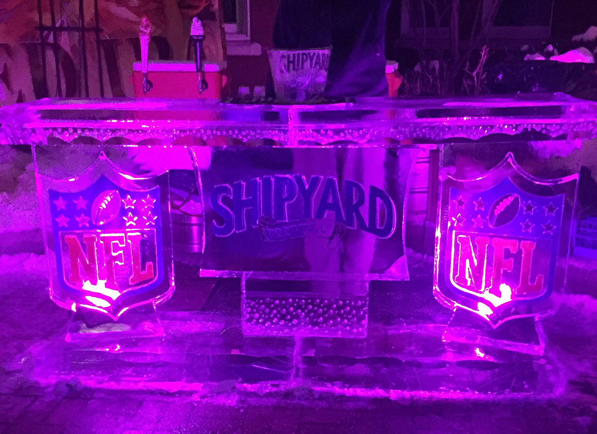 Chilling at the portland harbor hotel ice bar 2016 Are we going to get snow this year 2016