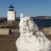 L is for Lighthouse and a Lonely Snowman