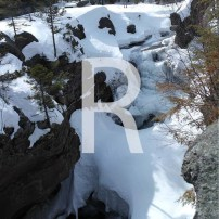 R is for a Rocky Waterfall and Trekking through the Snow