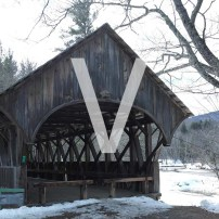 V is for Views of the Artist's Bridge in Newry Maine
