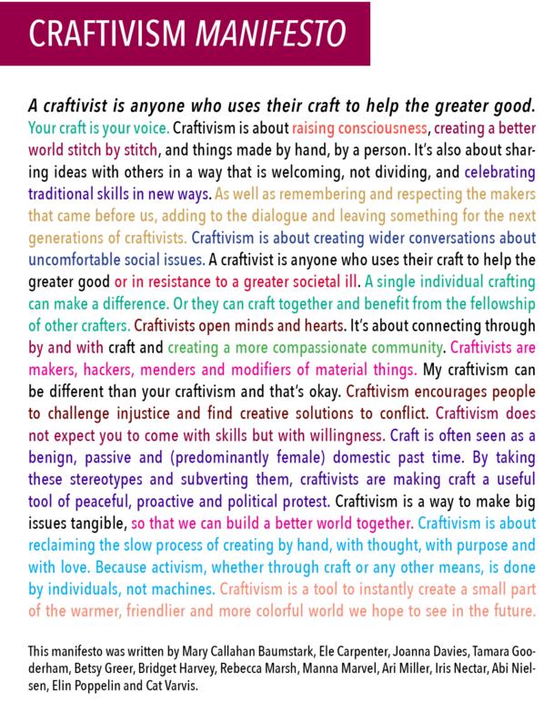 Craftivism Manifesto