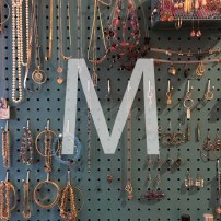 M is for Making a pegboard jewelry organizer.